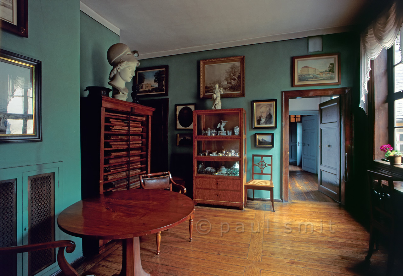 Small dining room in  Goethe's House in Weimar.