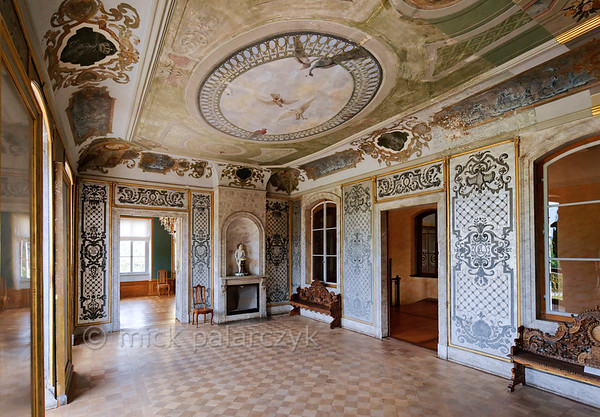 Grey Salon in Belvedere Castle near Weimar.