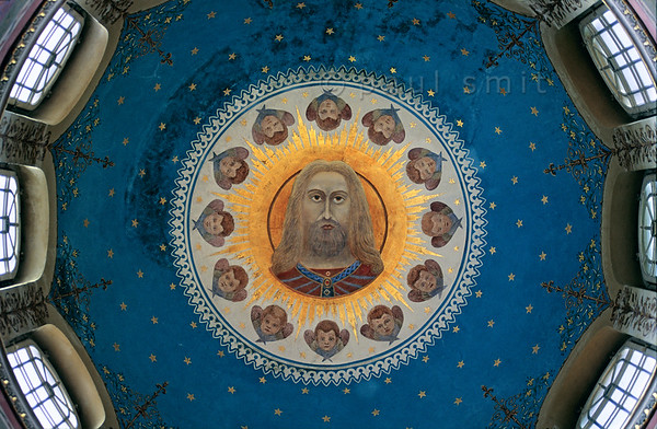 Dome of the Russian Orthodox Chapel in Weimar.