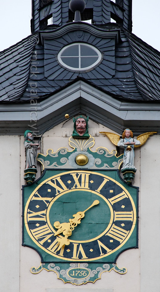 Schnapphans on tower clock in Jena.
