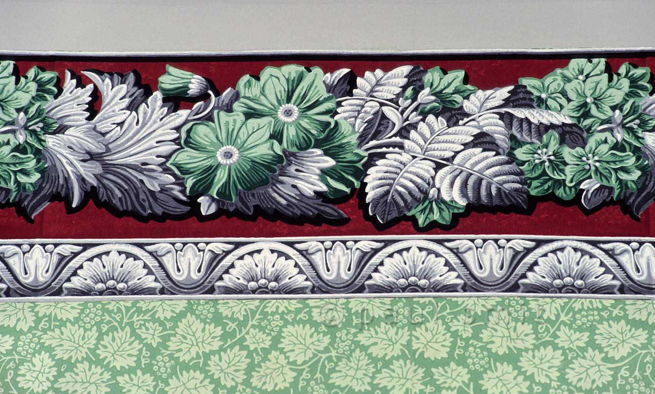Wallpaper of living room in Schiller's House in Weimar.