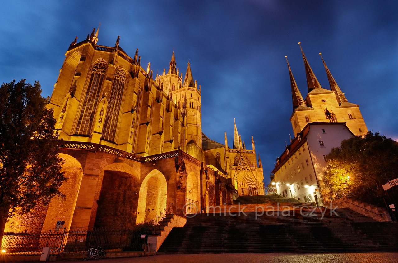 Cathedral and St. Severus Church in Erfurt.