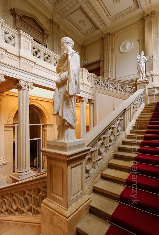 Staircase in Herzogliches Museum in Gotha.