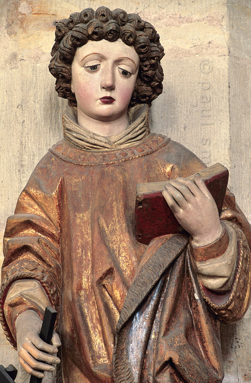 Saint Lawrence in cathedral of Erfurt.