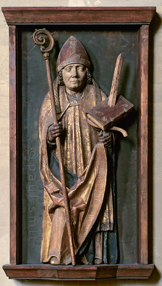 Relief of Saint Boniface in cathedral of Erfurt.