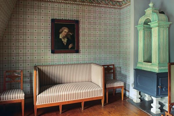 Reception room in Schiller's House in Weimar.