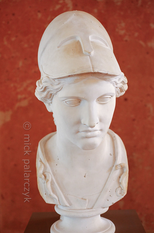 Bust of Athena in the Stadtschloss Museum of Weimar.