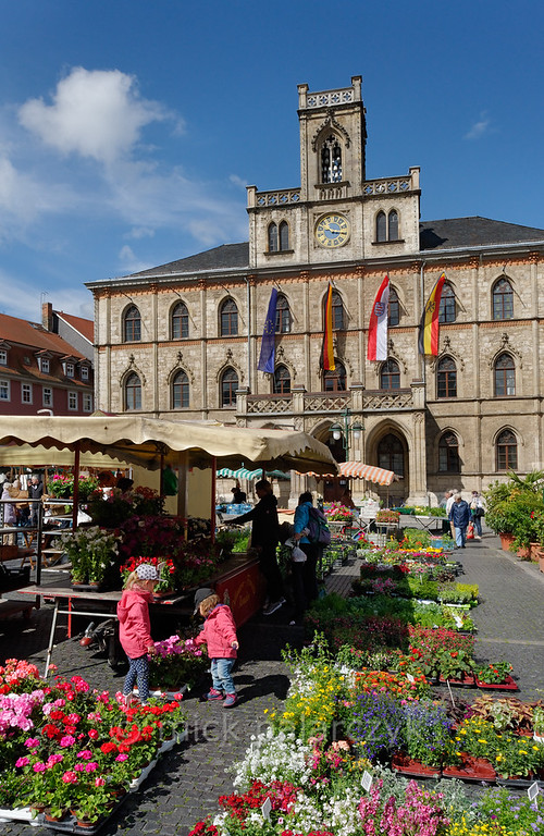Marketplace in Weimar.