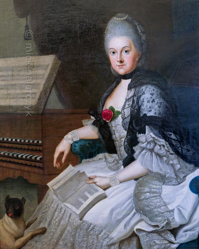 Portrait of Duchess Anna-Amalia in Weimar.
