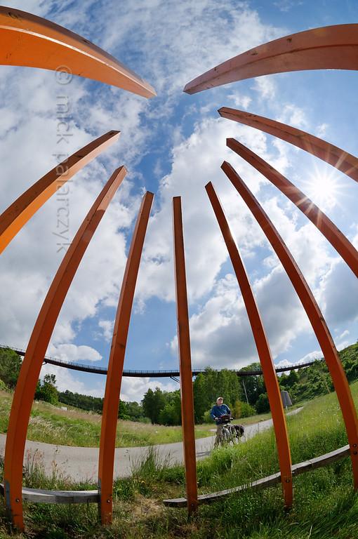 Modern art near Ronneburg.
