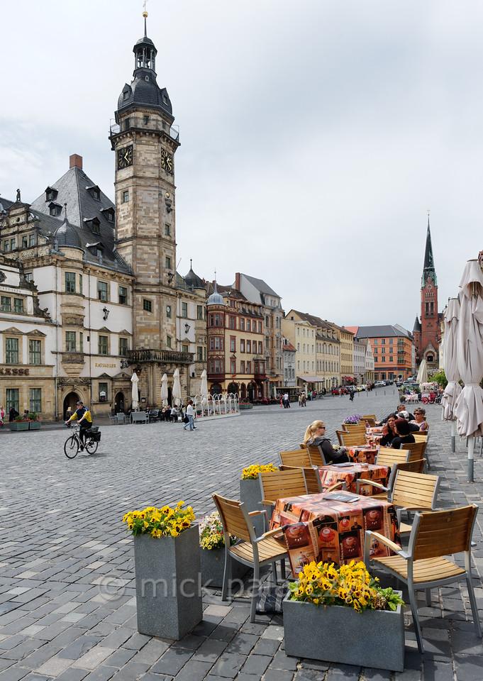 Marketplace in Altenburg.