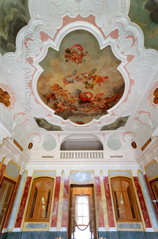 Ballroom in Belvedere Castle near Weimar.