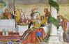 Fresco detail in Landgrafenzimmer in the Wartburg.