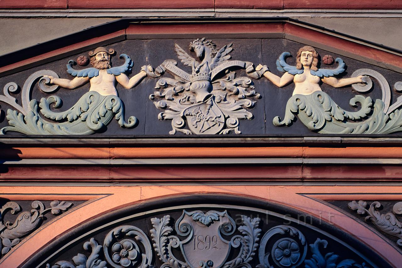 Detail of Cranachhaus in Weimar.