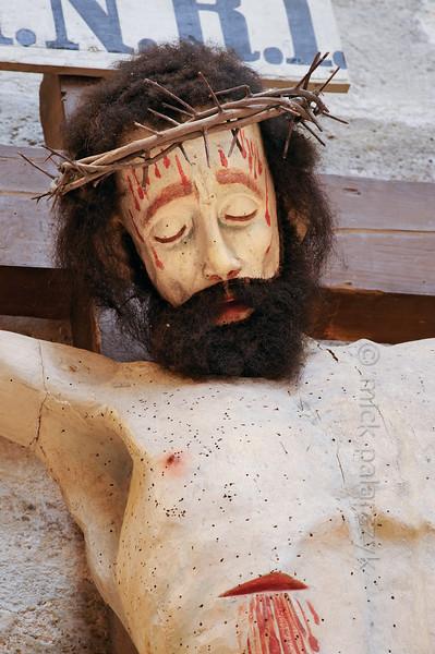 Crucifix in Liebfrauenkirche in Arnstadt.