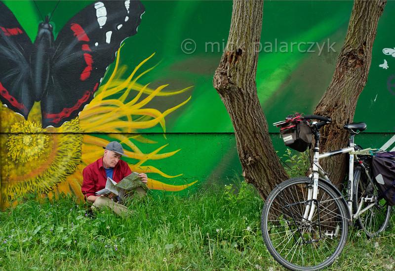 Airbrushed mural near Gera.
