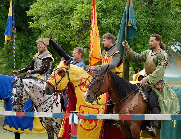 Medieval tournament in Thuringia.