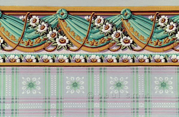 Wallpaper of reception room in Schiller's House in Weimar.