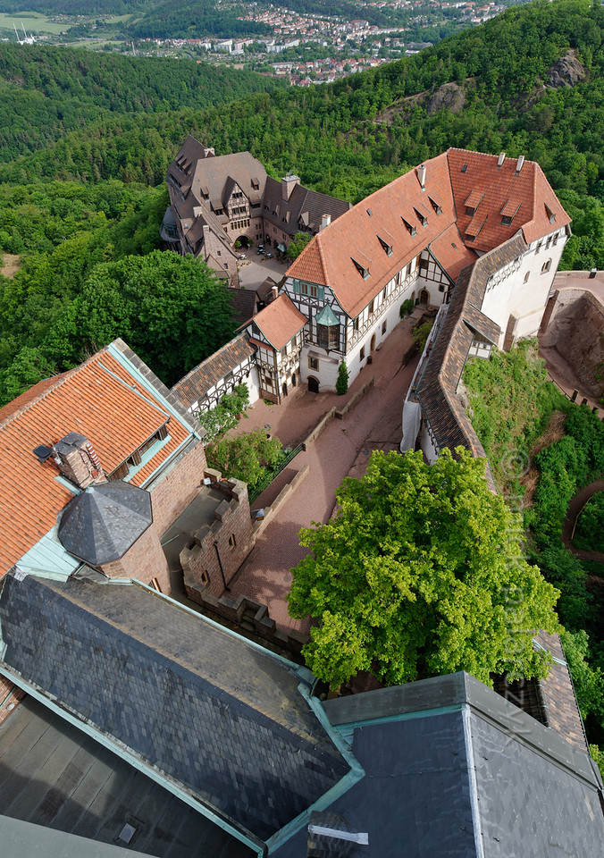 First courtyard of the Wartburg.