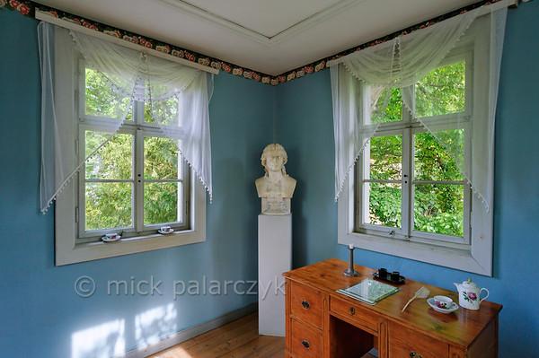 Little study in the garden of Schiller's Garden House at Jena.