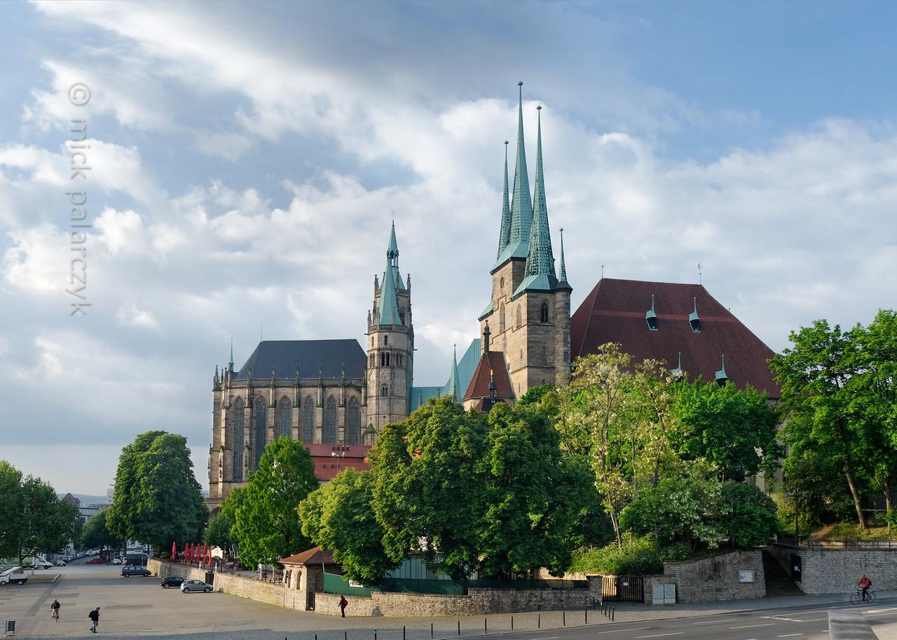 Domplatz in Erfurt.