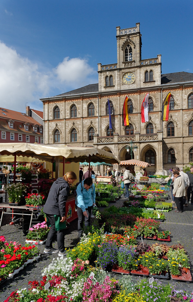 Marketplace in Weimar.