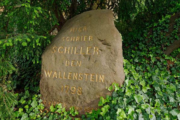 Commemoration stone at Schiller's Garden House in Jena.