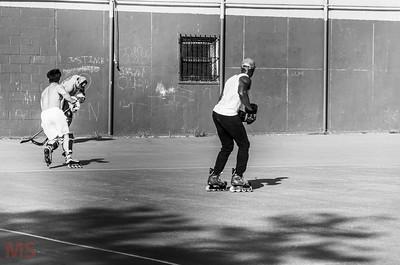 Street Hockey in Soho, N.Y.