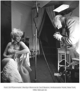 Marilyn Monroe & Cecil Beaton, 1956
