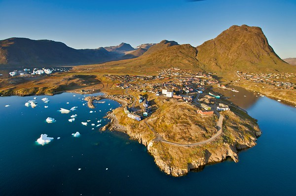 Greenland Cities from Heli (13 images)