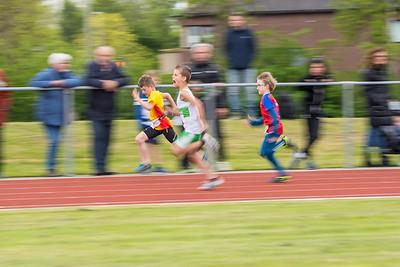 40 m sprint pupillen B, Daimy, Thijmen, Lyano