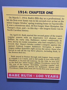 Babe Ruth is known for betting a home run hitter and a Yankee.  However, he started out with the Orioles and then the Red Sox as a pitcher.