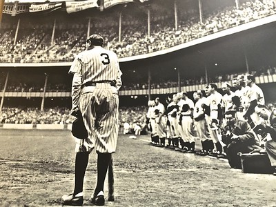 During the last of Babe Ruth's historic career.