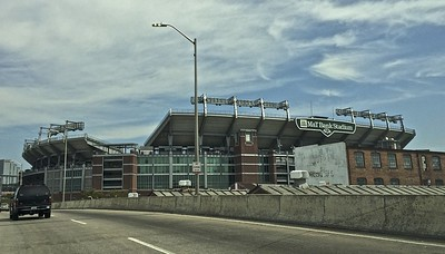 Today I was in Baltimore, Maryland.  I passed by the stadium where the Baltimore Ravens play their NFL football games.
