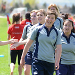 Boulder Babes vs CO School of Mines in Women's Rugby at Pleasant View Fields in Boulder, Colorado.  April 26, 2014