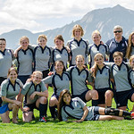 Boulder Babes vs School of Mines in Women's Rugby at Pleasant View Fields in Boulder, Colorado.  April 26, 2014