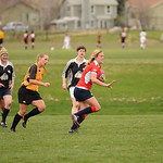 Boulder Babes vs Salt City Slugs in Women's Rugby at Pleasantview Fields in Bouder, Colorado. Final score of the game was the Babes 68 and the Slugs 17. April 19, 2014