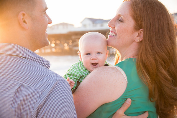 3 month old baby and family portraits - Pacific Beach Pier San Diego