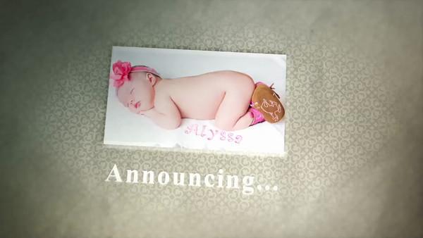 Baby anouncement digital