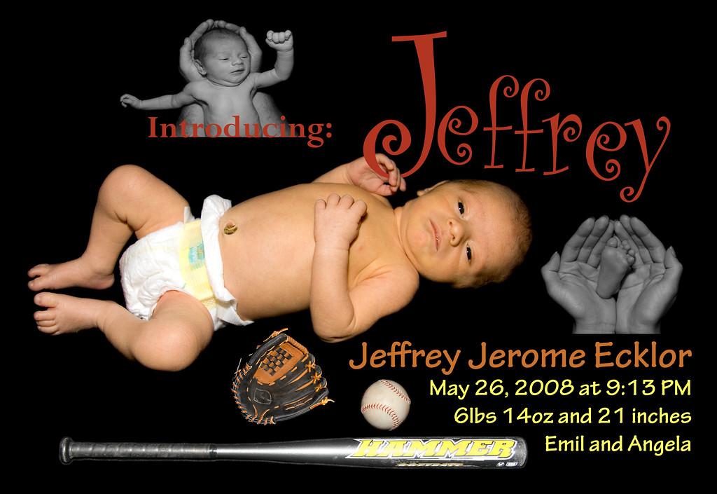 Jeffrey's birth announcement