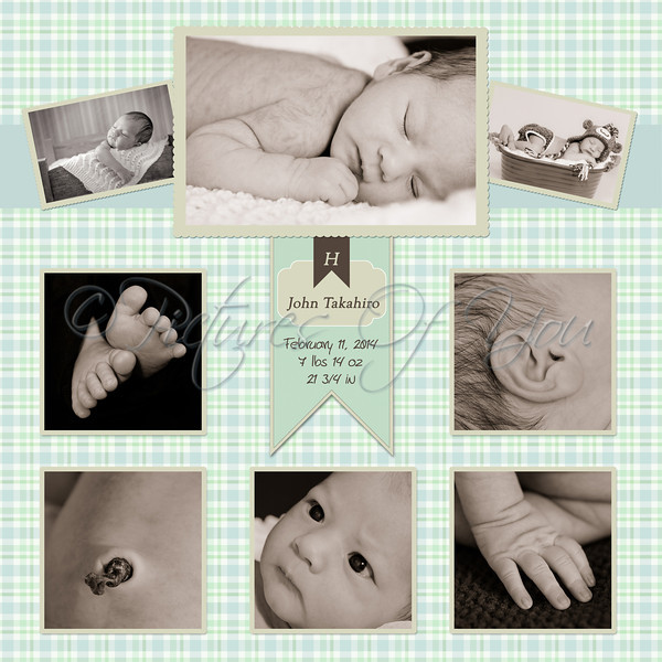 Baby John Collage 12x12<br /> <br /> Prints best at 12x12, 10x10 or 8x8 (use square sizes only)