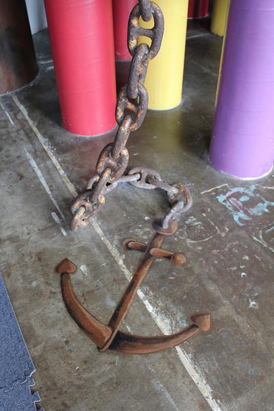 Real chain, drawn anchor