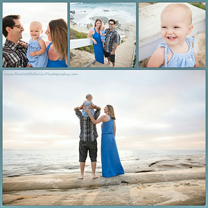 La Jolla Family Portraits on the Beach - AR