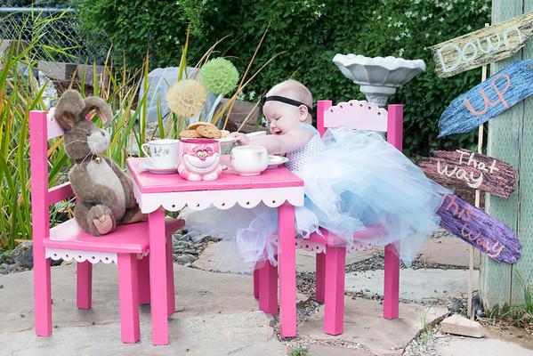Quinn's Very Merry Un-Birthday 6 month shoot