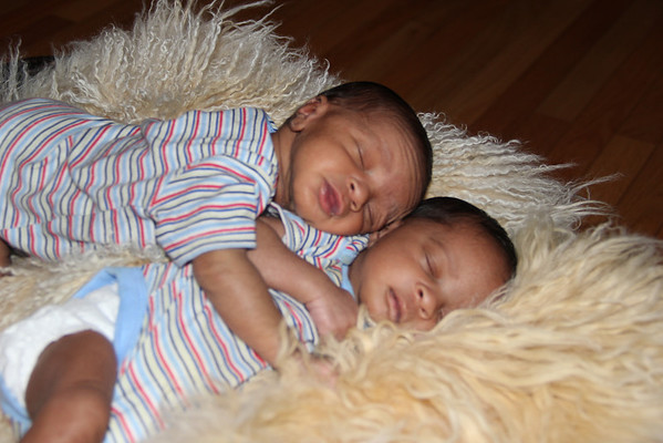 Twins grow in my family.