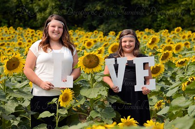 Cole Girls Sunflower Field