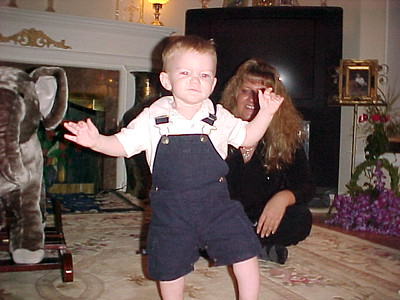 2004 Baby Brendan with elephant