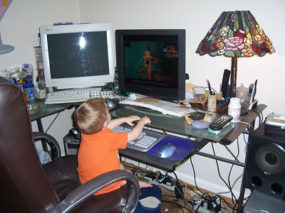 2005 Brendan Playing on computer