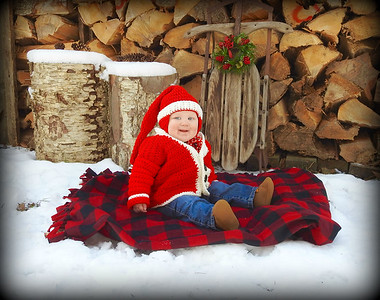 Baby Christmas Shoot
