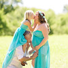 Family Kissing Maternity